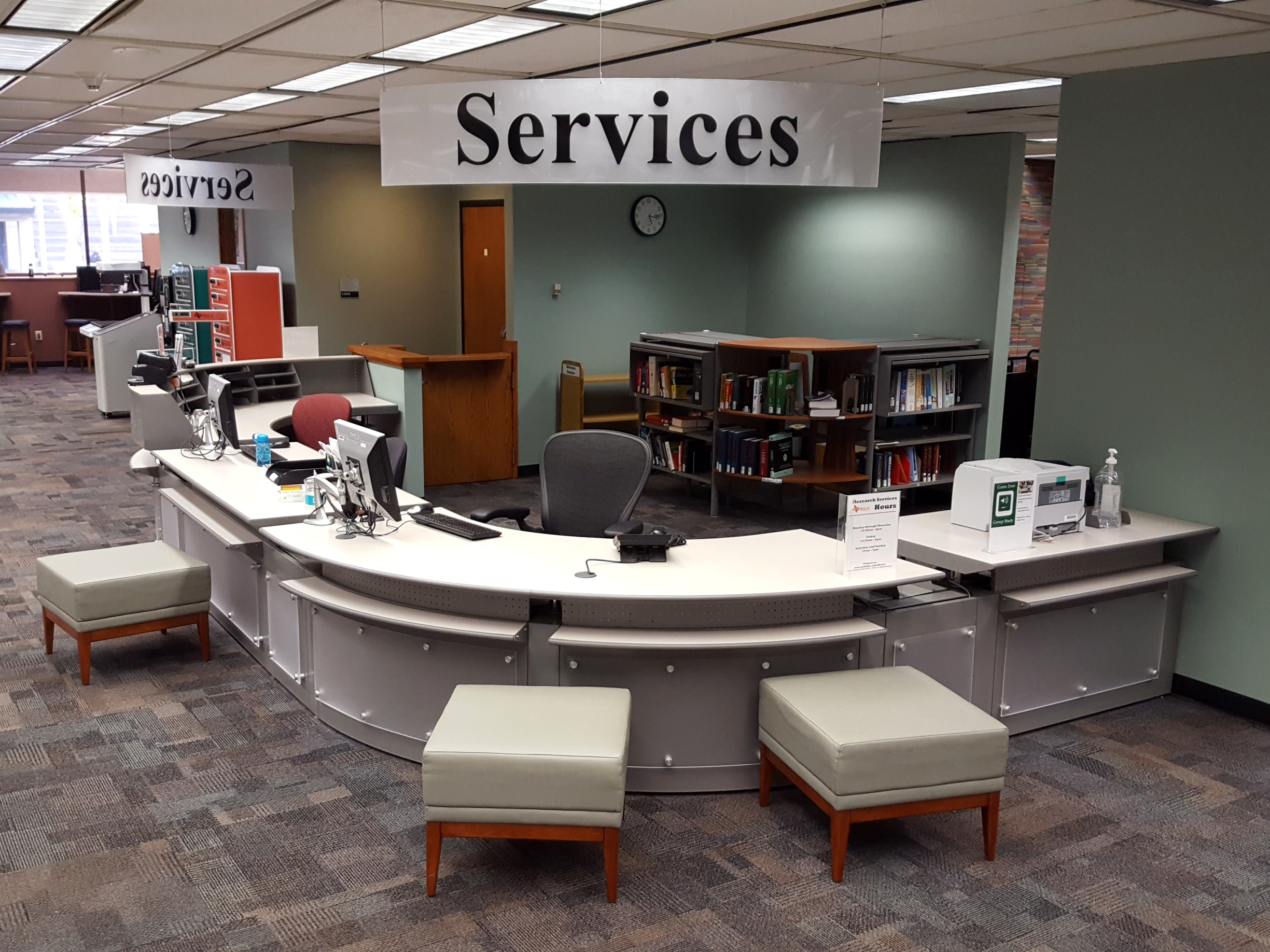 Research Services Desk on Floor 2