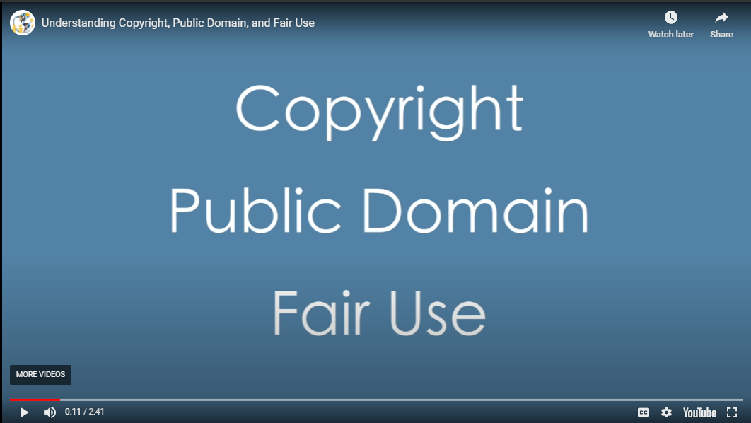 Copyright Public Domain and Fair Use