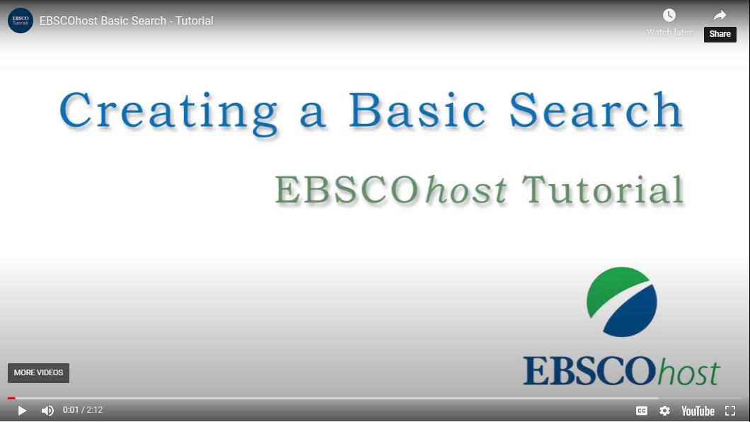 Ebsco Basic
