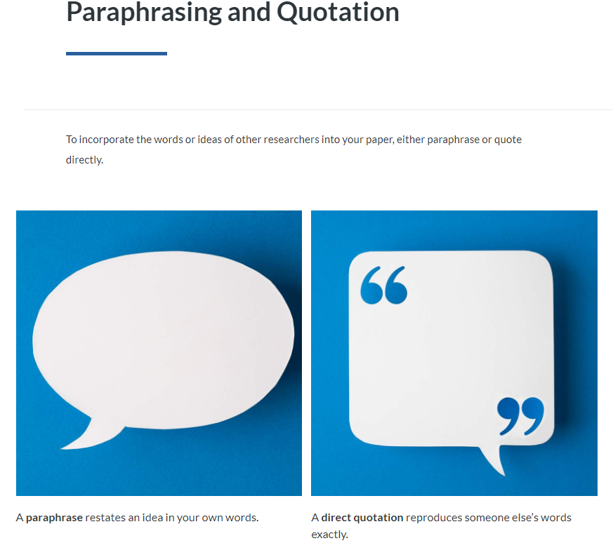 Paraphrasing and Quotation