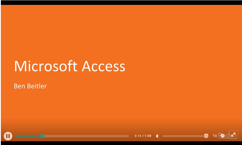 Microsoft Access Video