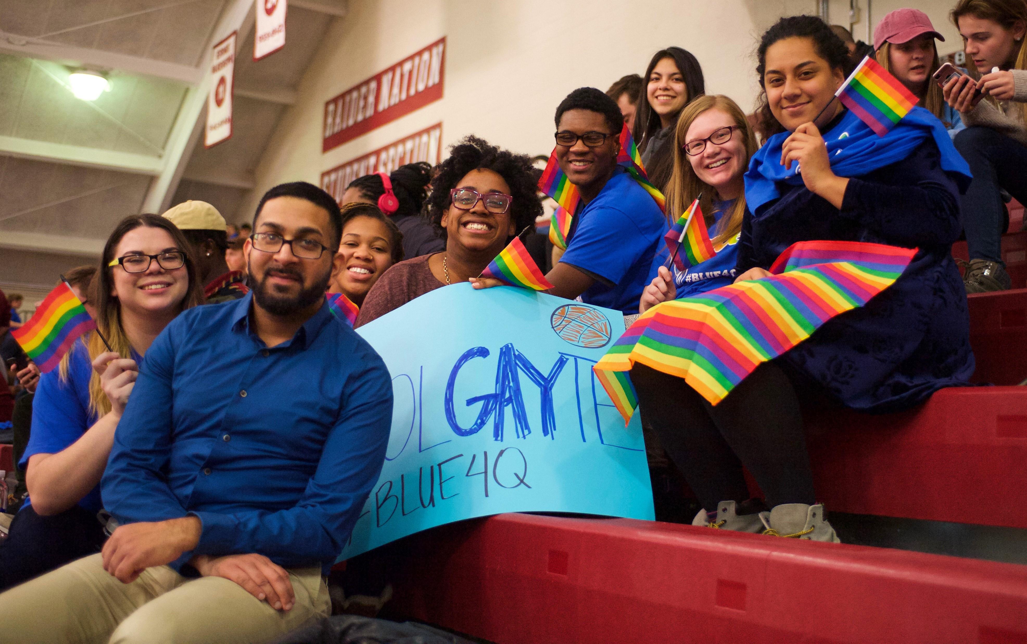 Colgate men's basketball LGBTQ Awareness Game,2017