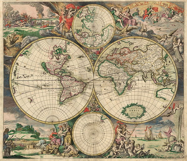 Map of the Known World  1500s
