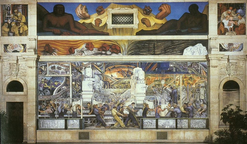 North wall. Motor Assembly by Diego Rivera