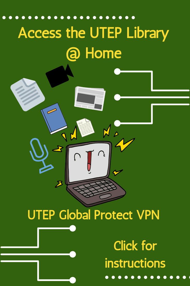 graphic that link to instructions for the utep vpn