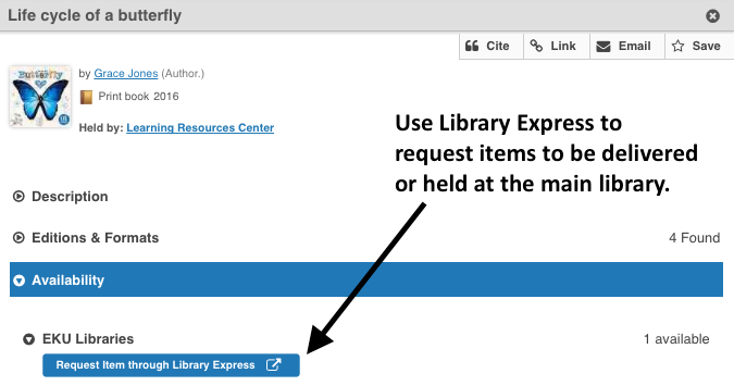 Library Express option