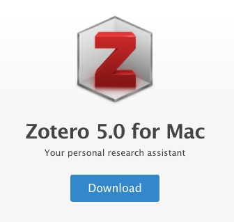 Link to Install Zotero for Mac