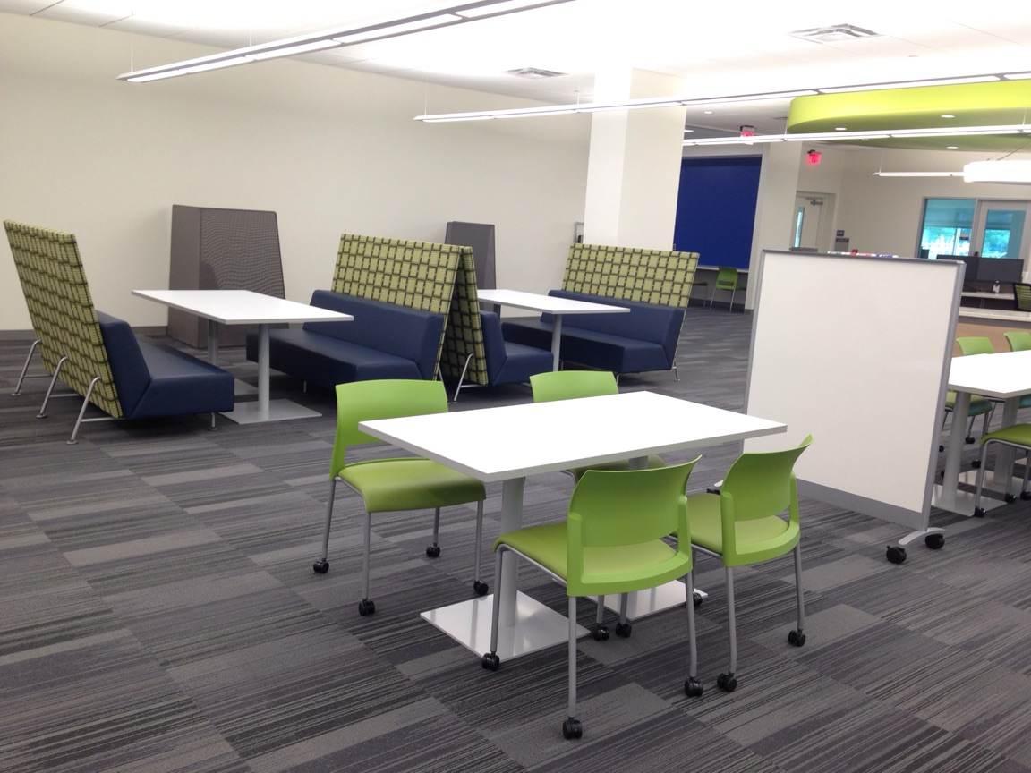 Group study space in the Learning Commons