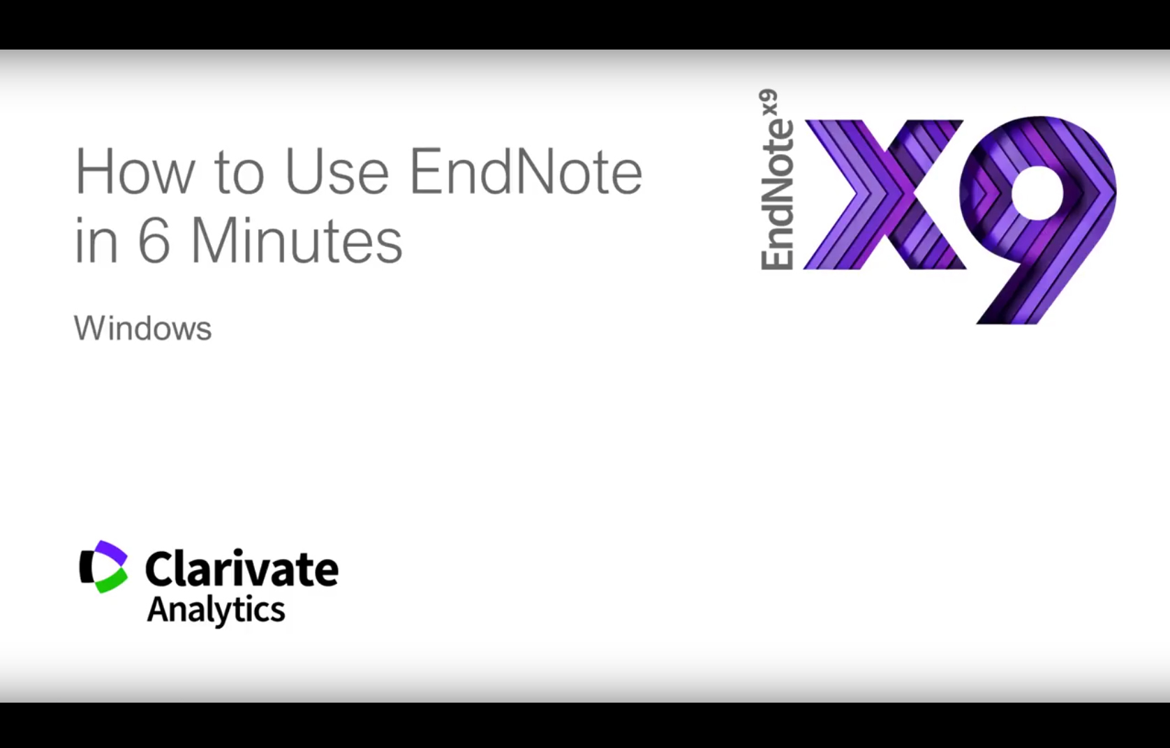 How to use Endnote in 6 minutes. (For Windows)
