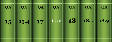 Book spines with call numbers