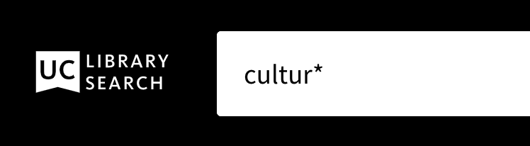 """UC Library Search search box containing """"cultur*"""""""