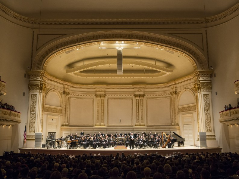 Carnegie Hall during performance