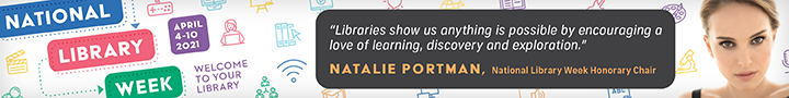 NLW Banner with a quote by Natalie Portman.