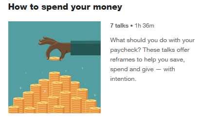 How to spend your money