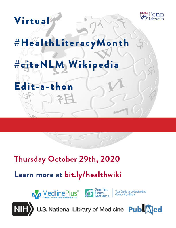#HealthLiteracyMonth #citeNLM Wikipedia Edit-a-thon
