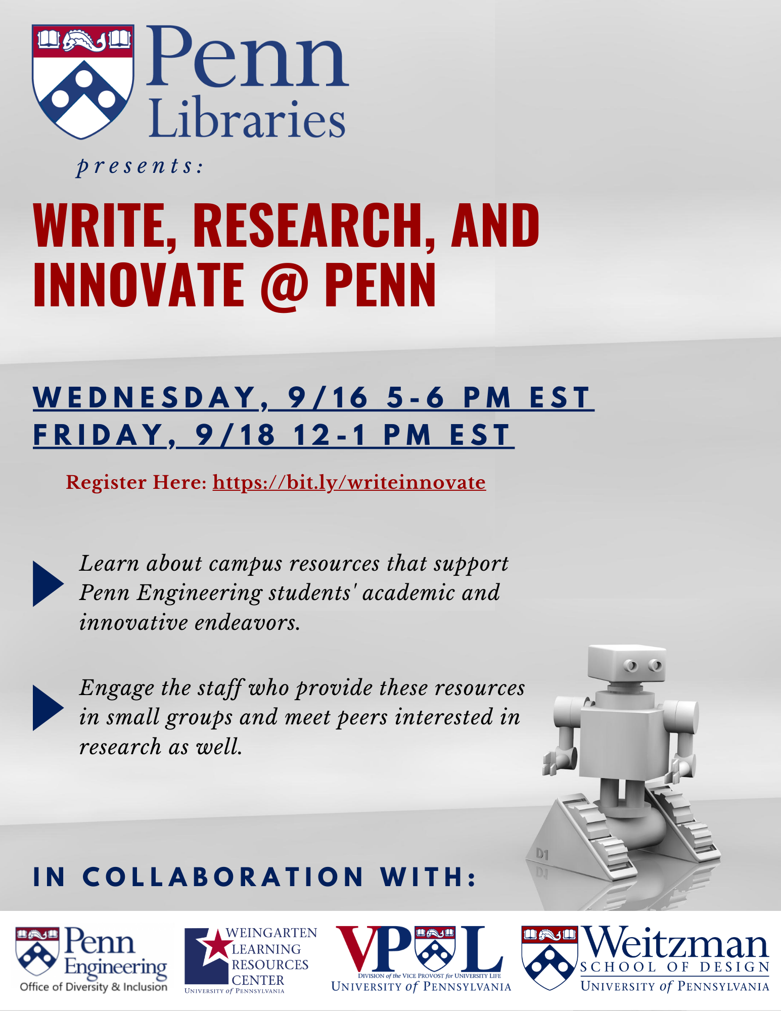 Write, Research, and Innovate at Penn