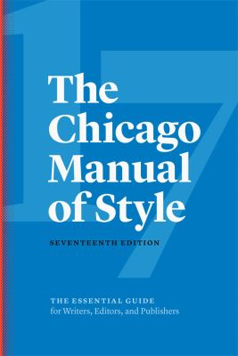 Chicago Manual 17th edition image