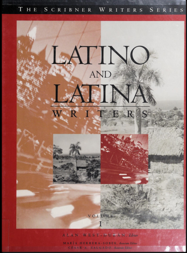 book cover for Latino and Latina Writers