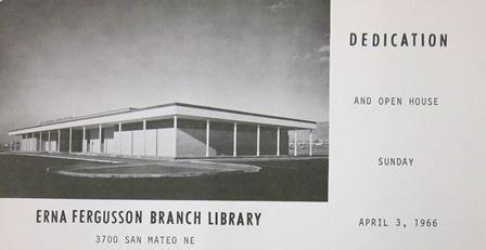 1966 Erna Fergusson dedication card