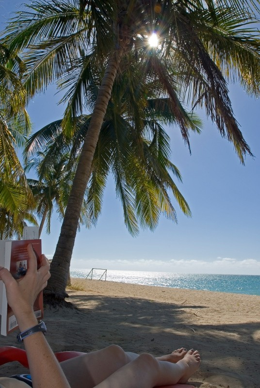 Allison Webb reading a book and relaxing at the beach Playa Ancon near Trinidad Cuba. Photo. Britannica ImageQuest, Encyclopædia Britannica, 25 May 2016. quest.eb.com/search/167_3999904/1/167_3999904/cite. Accessed 22 May 2021.
