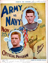 Army-Navy Game program cover