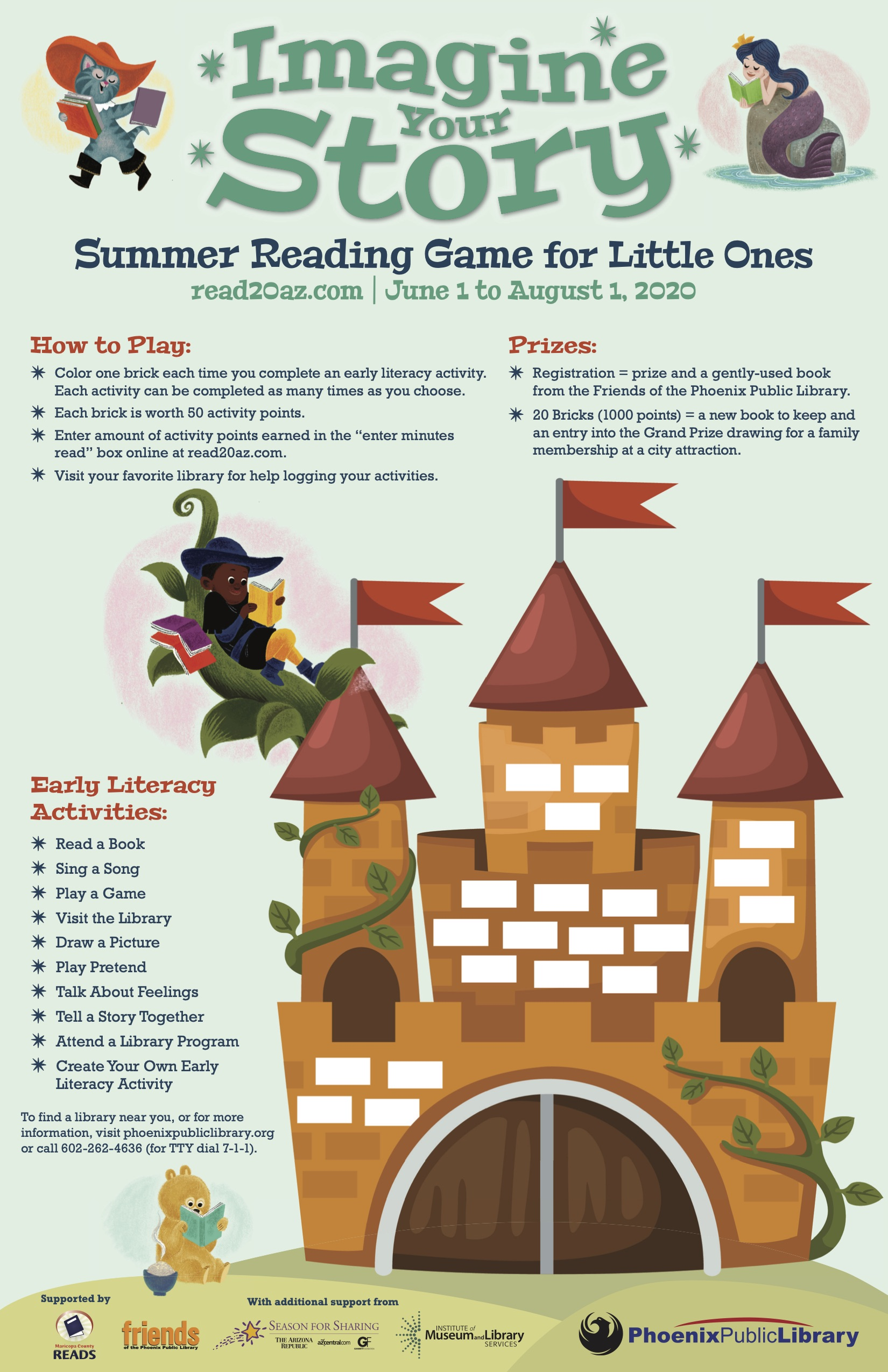 castle reading log for preschoolers