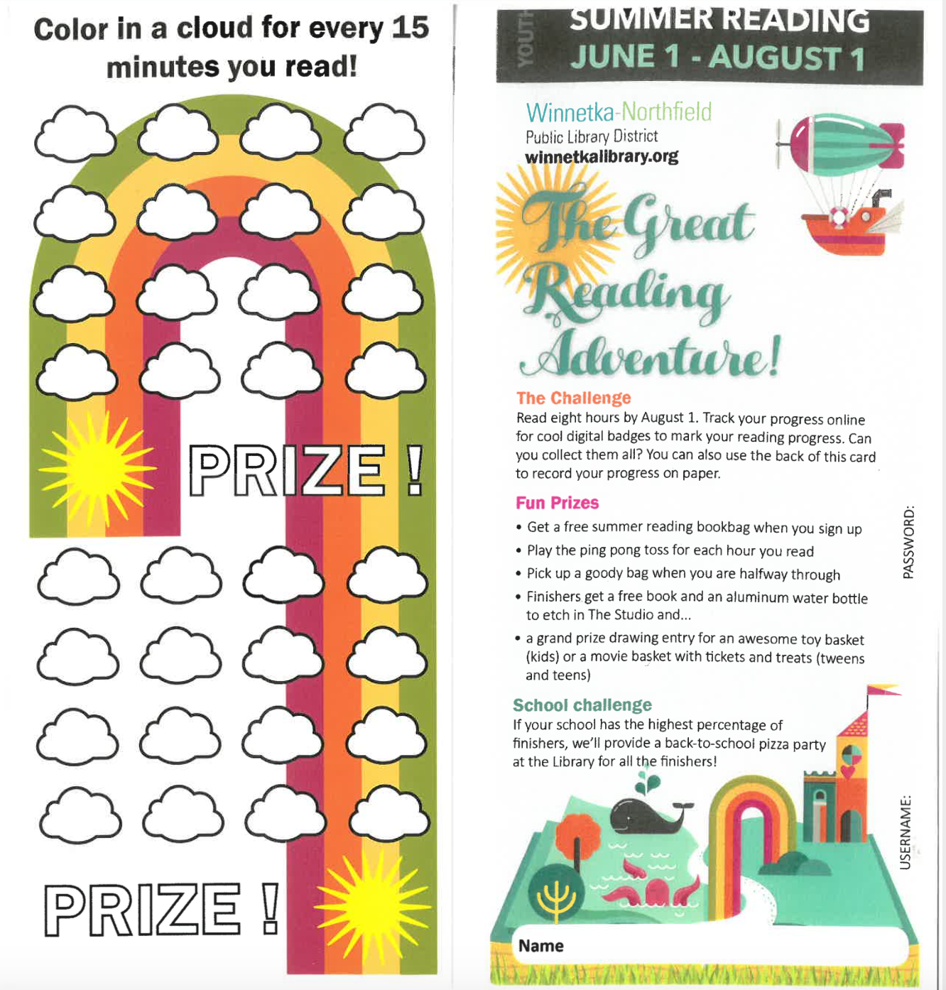 rainbow reading tracker