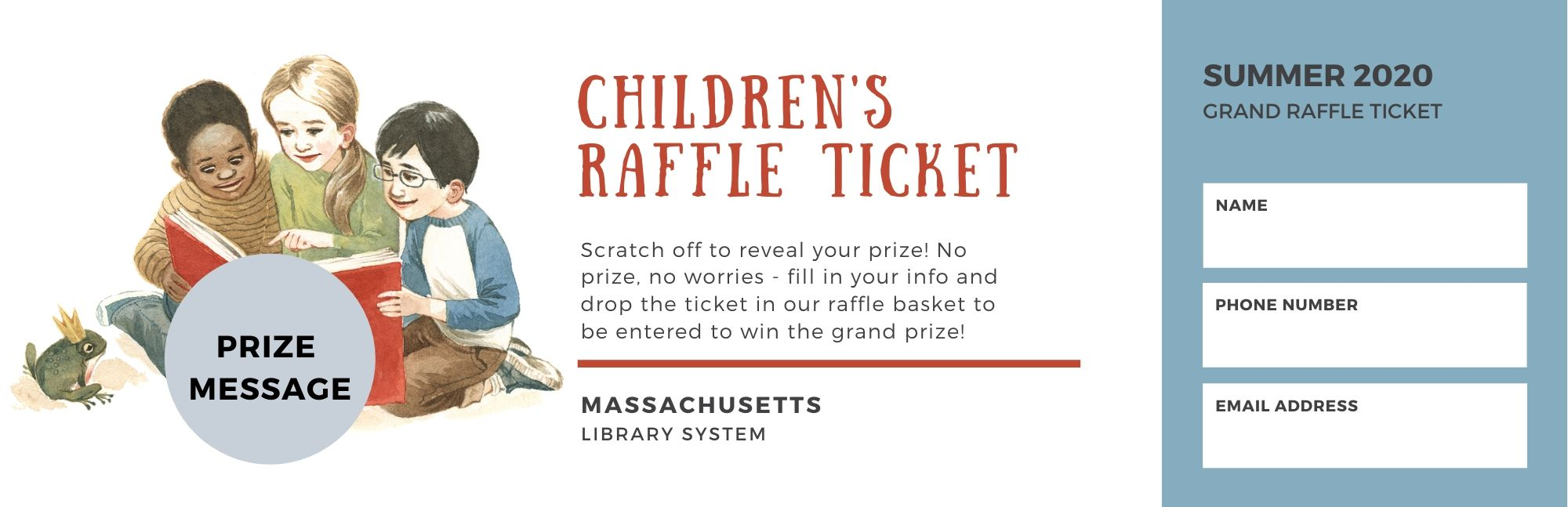 scratch ticket for summer raffle