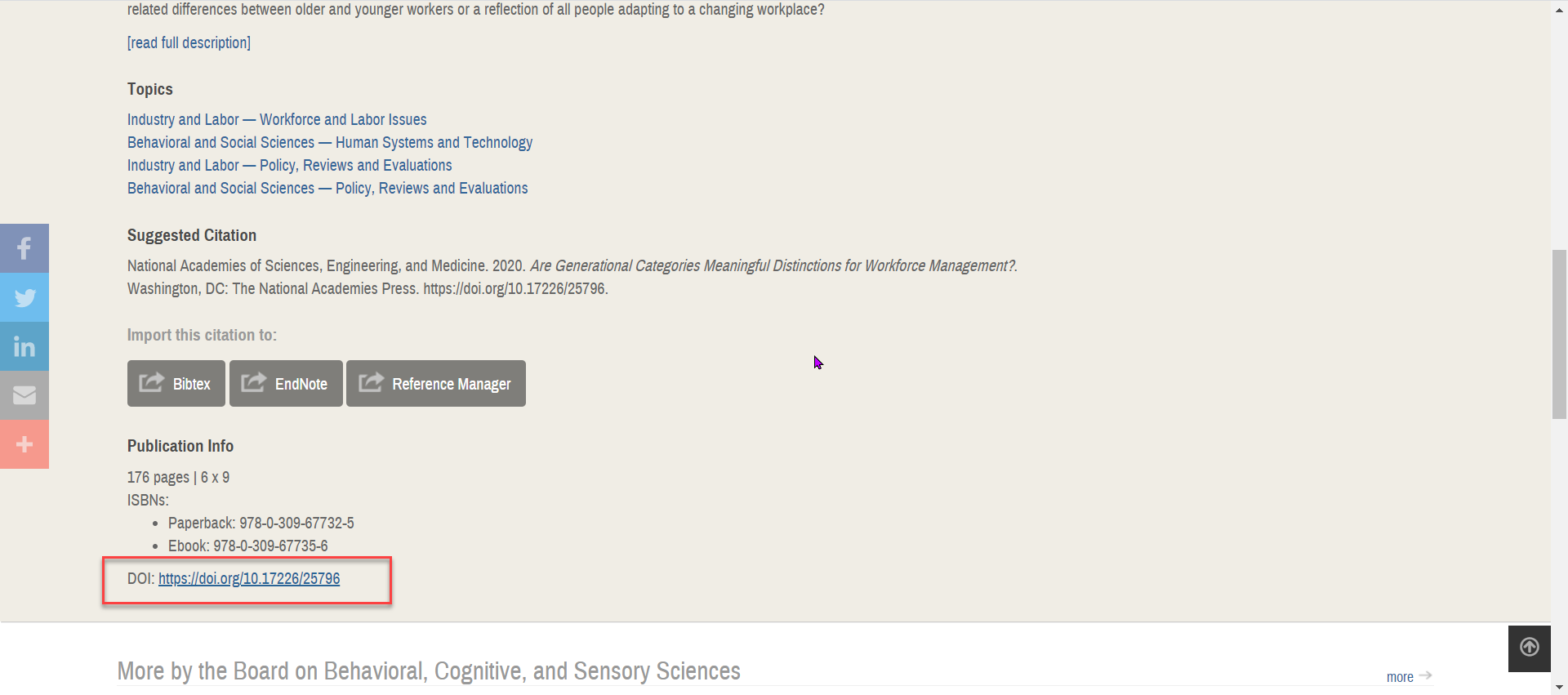 Resource record in National Academies Press Free ebooks
