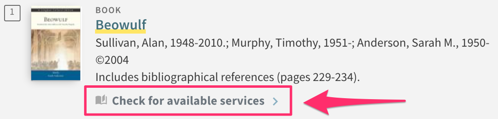 """Click """"Check for available services"""" to place your request"""