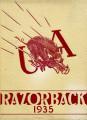 Razorback Yearbook Cover 1935