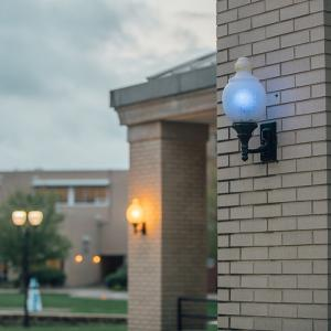 Blue light on campus