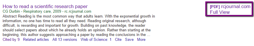 Screenshot of Durbin reference on Google Scholar