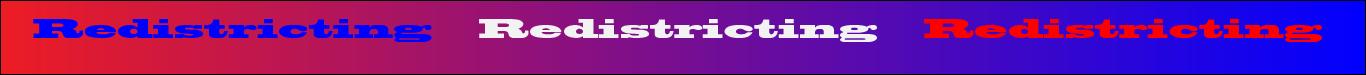 Redistricting banner image