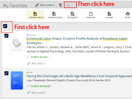 Select all articles then click elipse