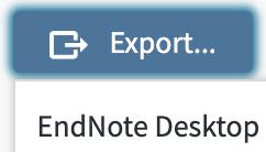 Web of Science EndNote desktop option