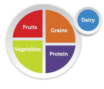Image of MyPlate nutritional guide