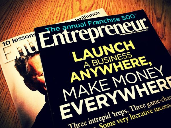 A picture of Entrepreneur Magazine covers