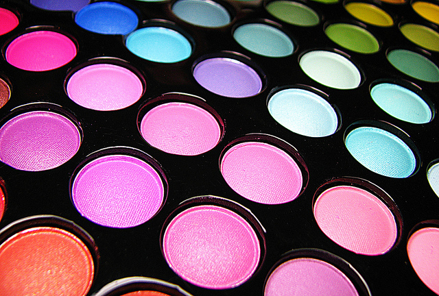multiple colors of makeup
