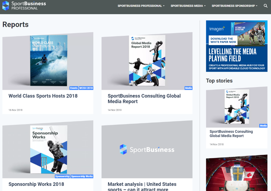 Click to connect the SportBusiness