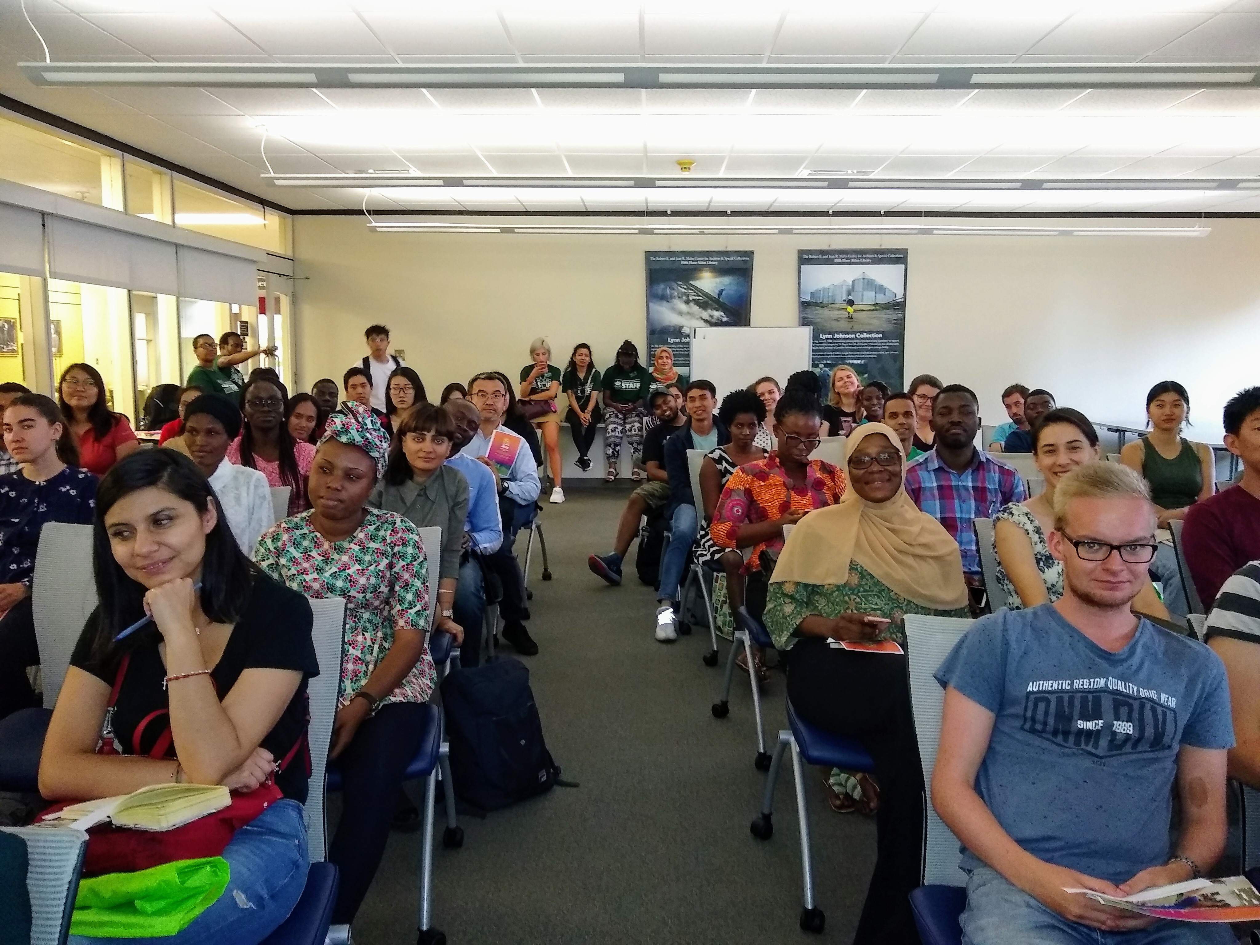 International students at 2019 library orientation