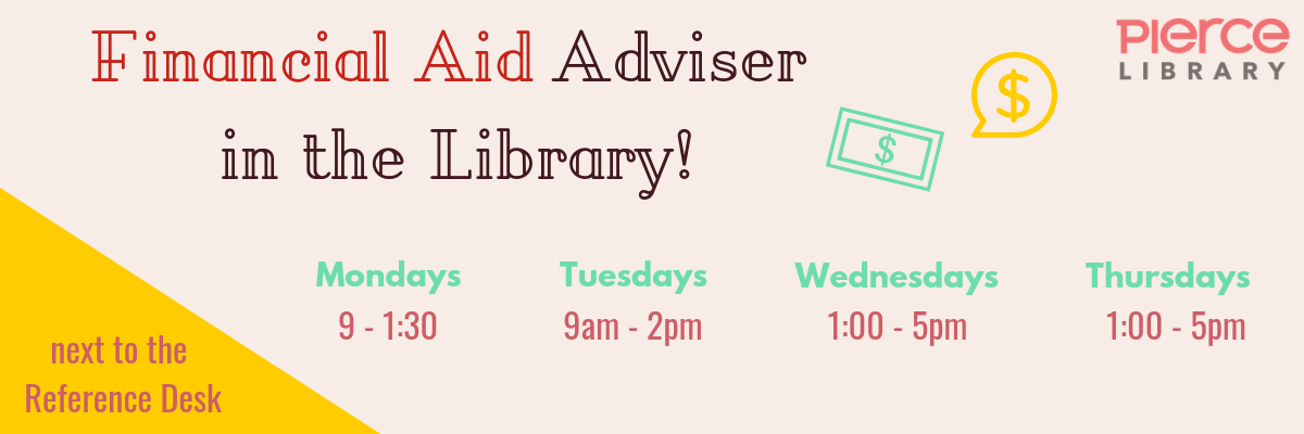 Financial Aid hours inside the library