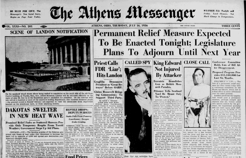 The Athens Mesenger for July 16, 1936