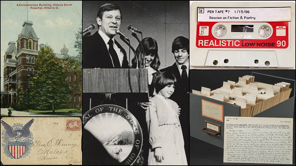Image shows a collage of select images from Manuscript Collections