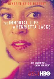 color photo of the real Henrietta Lacks on the cover, with the title across the top.
