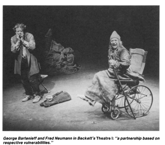 George Bartinieff and Fred Neumann in Becket's Theater 1