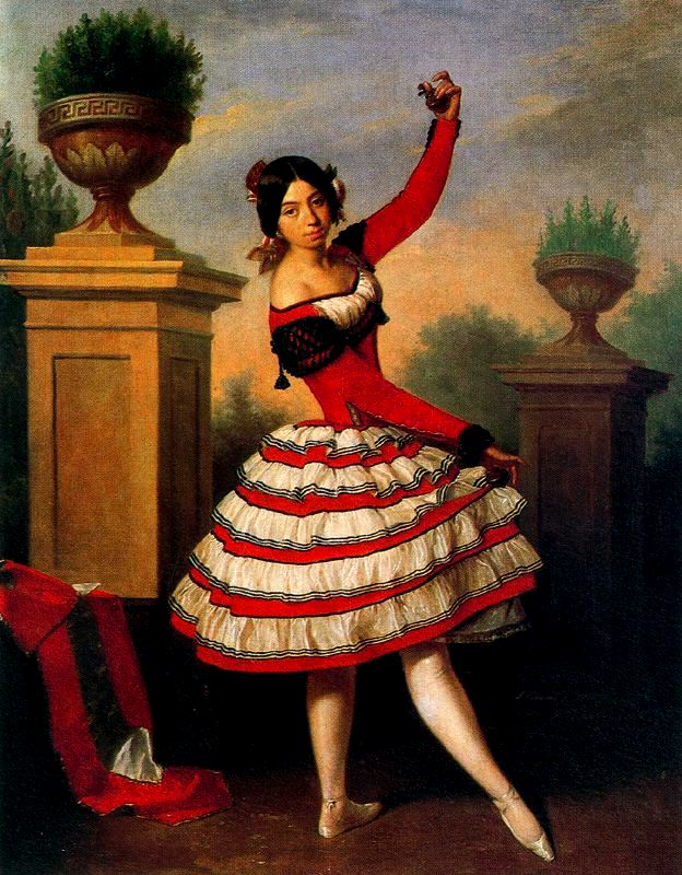 painting of dancing woman