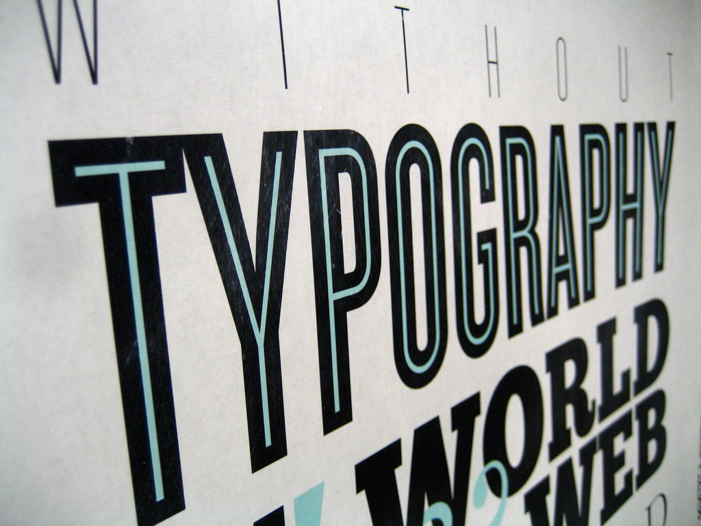 Image of the word Typography