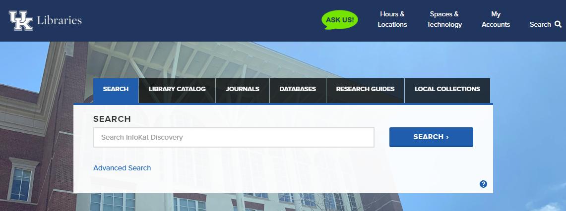 UK libraries search box