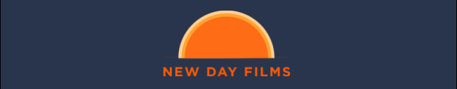 "New Day Logo: a rising sun in orange with ""New Day Films"" in orange text underneath"